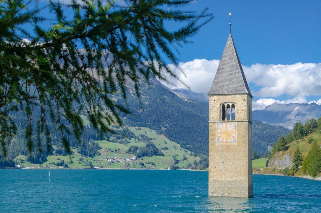 Campanile nel Lago di Resia - Alto Adige - Foto di Giulia Cimarosti