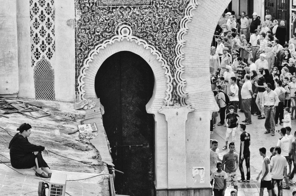 Fez, Marocco: Osservatrice Solitaria del Festival