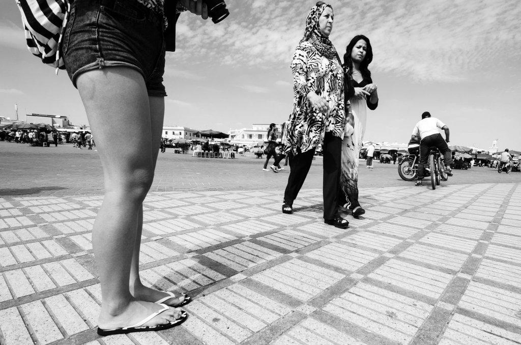 La piazza di Marrakesh e le donne
