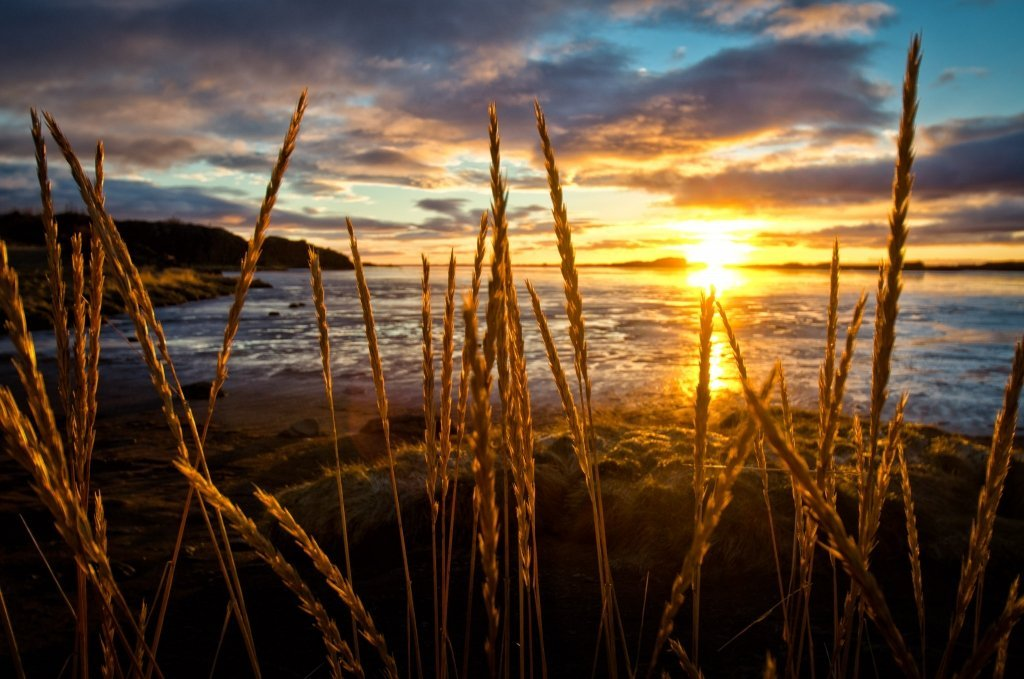 Tramonto in Islanda