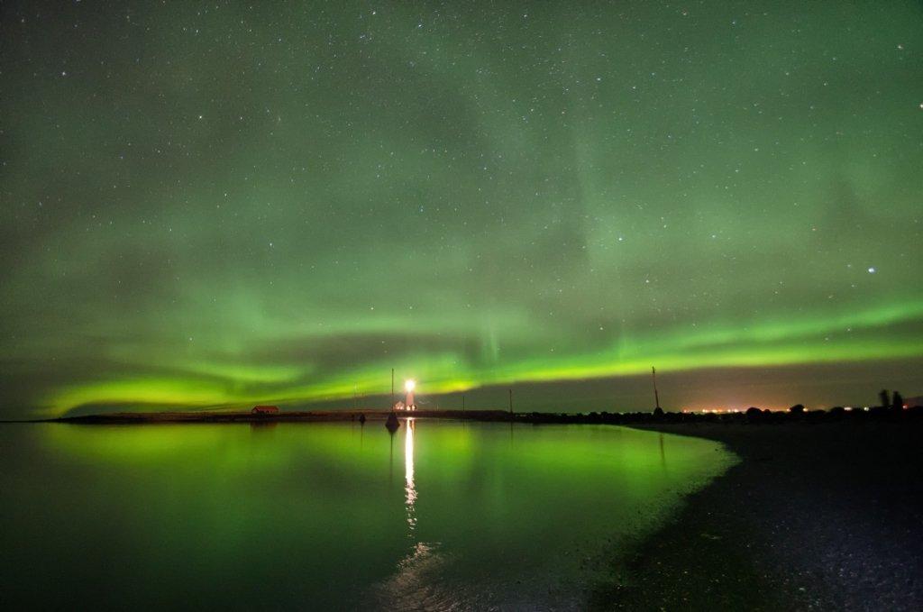 Aurora Boreale a Reykjavik, Islanda