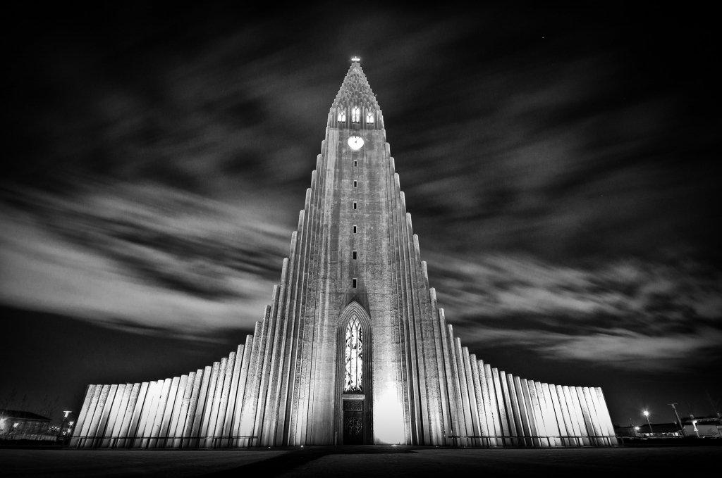 Hallgrimskirkja, a Reykjavik, la capitale dell'Islanda