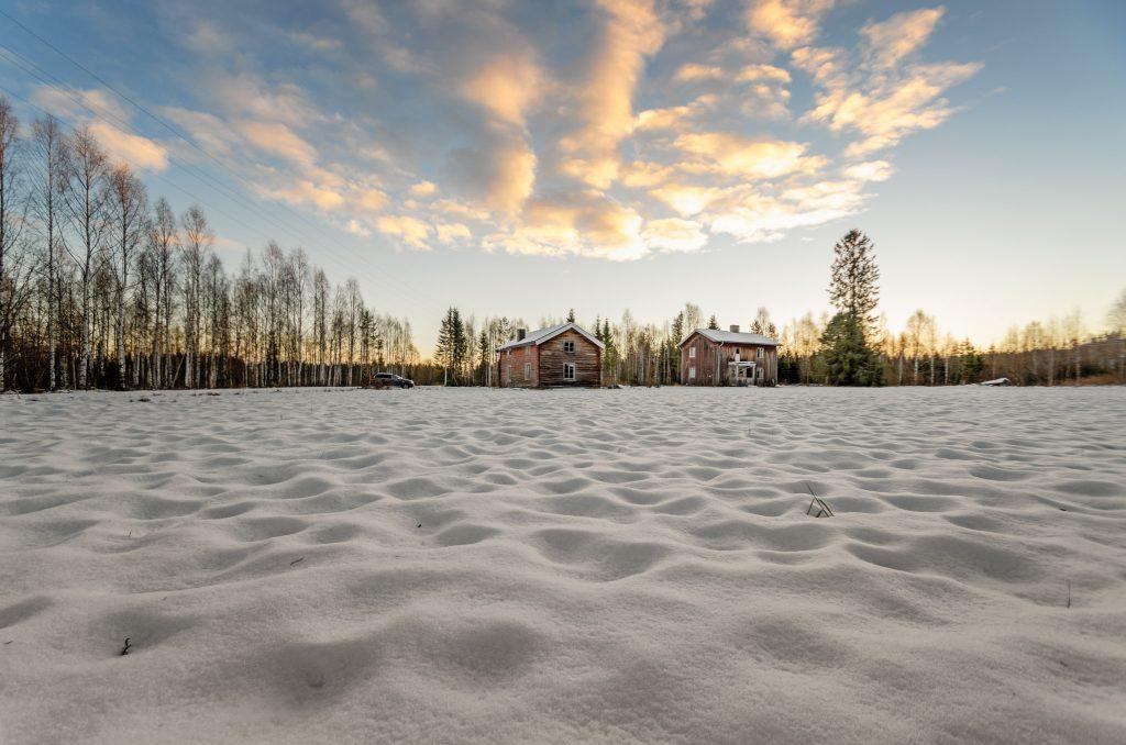 Neve della Lapponia Svedese in Inverno